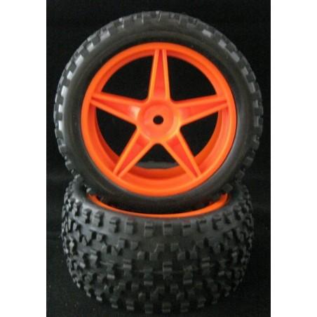 06010 - Ruedas Delanteras Buggy 1/10 Naranjas x2 uds.