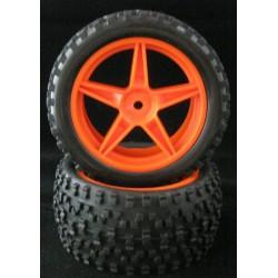 06026 - Ruedas TRASERAS naranjas x2 uds.