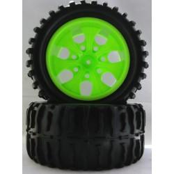 8013 - Ruedas color VERDE con TACO x2 uds.