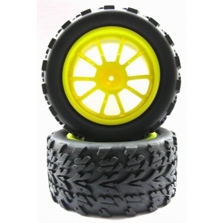 8027 - SET Monster Truck 1/10 Tires Yellow x 4 pcs