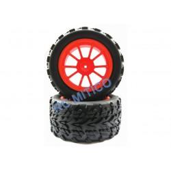 8029 - Juego de ruedas NARANJAS x2 - Monster Truck