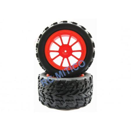 8029 - Monster Truck 1/10 Tires - Orange x2 pcs