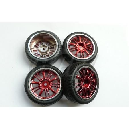 900003 - Set ruedas CARSON para pista 1/10 x4 uds.