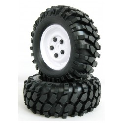 210052 - Ruedas Crawler con Foam 96 mm - Blanco x2
