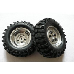 Rueda completa Crawler con Foam - 96 mm - Aluminio