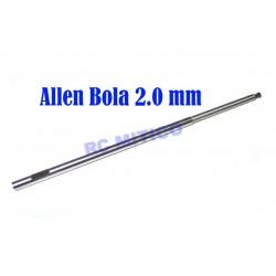 Q2.0 - Repuesto destornillador Allen Bola 2.0 mm