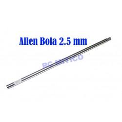 Q2.5 - Repuesto destornillador Allen Bola 2.5 mm