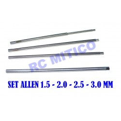 SET-HH - Repuesto Allen 1.5 - 2.0 - 2.5 - 3.0 mm