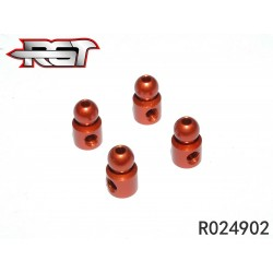 R024902 - Tripping ball head - 4.9 mm aluminum x4