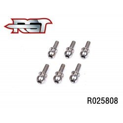 R025808 - Ball end 5.8x8mm H2.0 x6 uds.