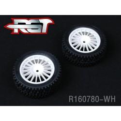 R160780-WH - Ruedas Rally 1/10 blancas TRASERA x2