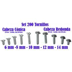 TTT-200 - Set de 200 Tornillos M3 roscachapa