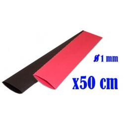 SET: Termoretractil Rojo - Negro - 1.0 mm