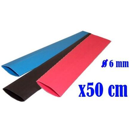 SET: Termoretractil Rojo - Negro - Azul - 6.0 mm