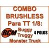 Combo Hobbywing + Motor RCM 4268 2050 KV + Tarjeta