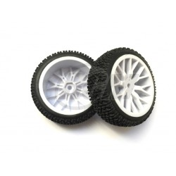6297 - Rueda Buggy 1/16 - Hex. 9 mm - Blanca - x2 uds.