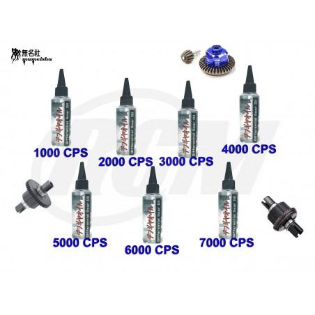 Lote de Siliconas Mumeisha para Diferencial - 1000 a 7000 CPS