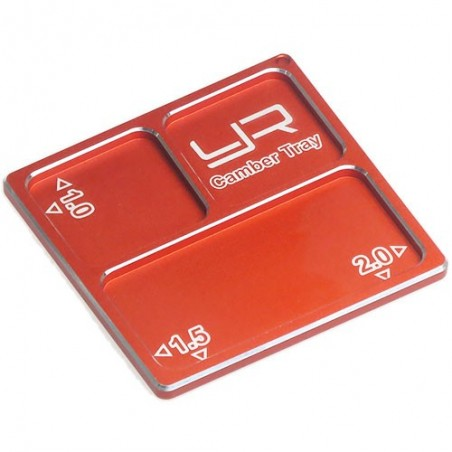 YA-0330OR - 2 In 1 Aluminum Camber Gauge Tray Angles Orange For 1/10