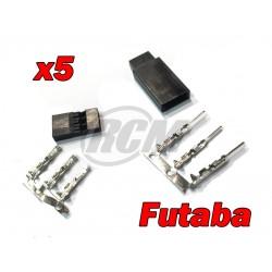 Futaba Connectors (5 Pairs)
