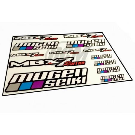 Mugen MBX7R Nitro Stickers Sheet - 21x15 cm