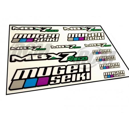 Mugen MBX7R ECO Stickers Sheet - 21x15 cm