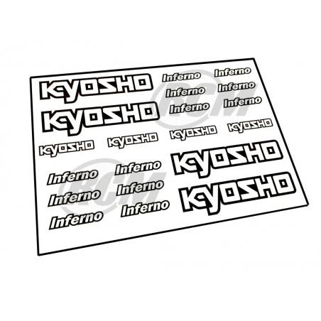 Pegatinas KYOSHO para coches RC - 21x15 cm