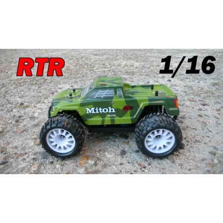 RCM Mitoh MT16 Monster Truck Brushless 1/16 - RTR (GREEN)
