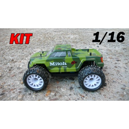 RCM Mitoh MT16 Monster Truck Brushless 1/16 - KIT (GREEN)