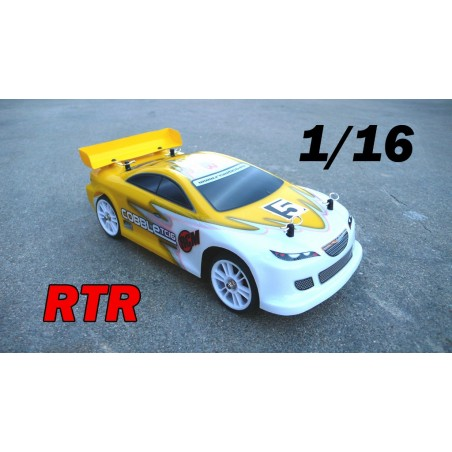 RCM Cobble TC16 On Road Brushless 1/16 - RTR YELLOW