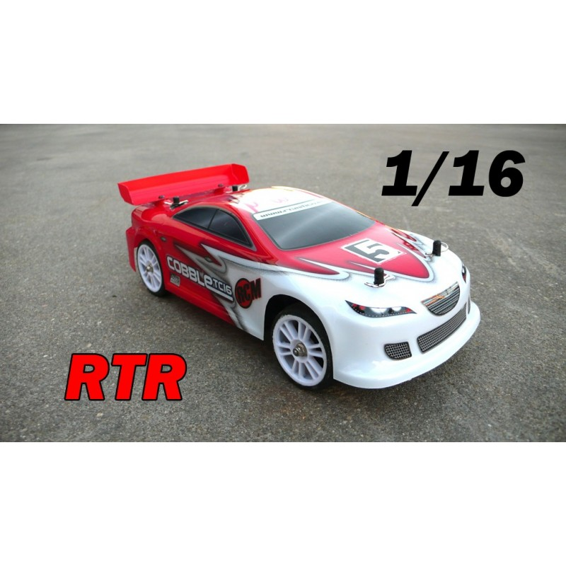 RCM Cobble TC16 On Road Brushless 1/16 - RTR RED