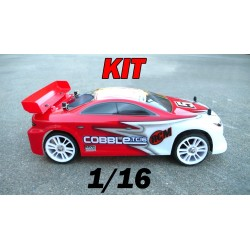 RCM Cobble TC16 On Road Brushless 1/16 - KIT (ROJO)