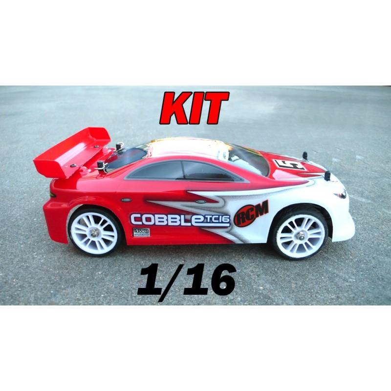 RCM Cobble TC16 On Road Brushless 1/16 - KIT (RED)