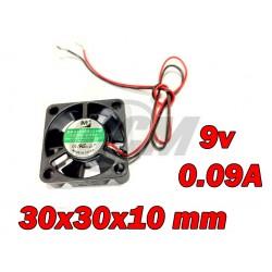 Ventilador 30x30x10 10000RPM 9v 0.09A