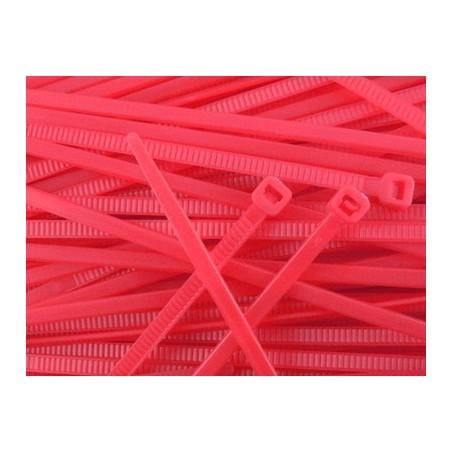 Bridas de Nylon 100 mm - ROJAS x20 uds.