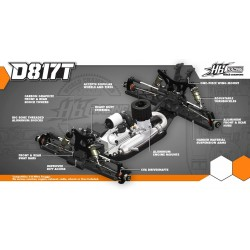 HB Racing D817T Nitro 1/8 Off-Road Truggy - KIT