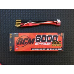 Bateria LiPo COMPETITON RCM NUCLEAR 8000 mAh 7.4v 60C-80C