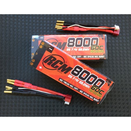2x COMPETITON LiPo RCM NUCLEAR 8000 mAh 7.4v 60C-80C