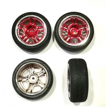 900006 - Set ruedas CARSON para pista 1/10 x4 uds.