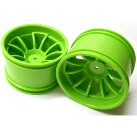 08008 - Llantas para Monster 1/10 Verdes x2 uds.