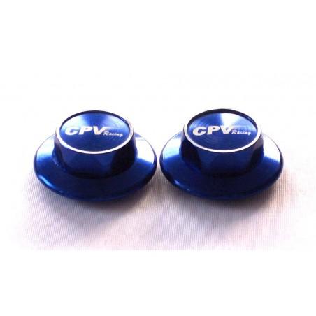 57884 - Blue Aluminum Nut Hubcap 23 mm for 1/5 x2 pcs