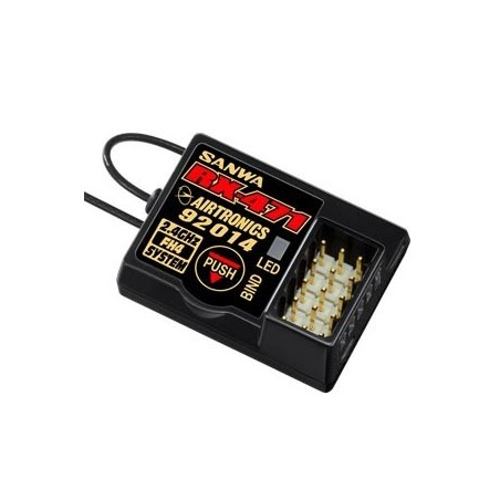 Receptor Sanwa RX-471 - 4 Canales 2.4 GHZ FH4/3