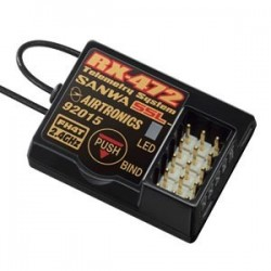 Receptor Sanwa RX-472 - 4 Canales 2.4 GHZ FH4/3