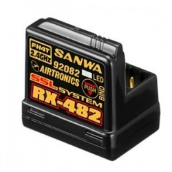 Receptor Sanwa RX-482 - 4 Canales 2.4 GHZ FH4 BUILT-IN ANTENA
