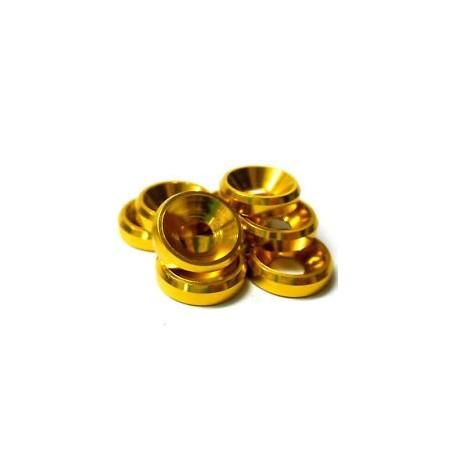 Arandelas conicas de Aluminio M3 - Color DORADO