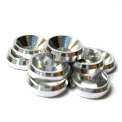 Arandelas conicas de Aluminio M3 - Color PLATA