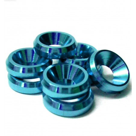 Alloy countersunk M3 Washer - Blue