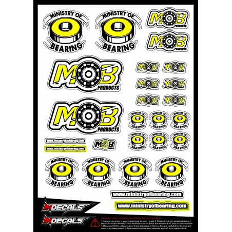 Ministry of Bearing Stickers 21x15 cm Pre-cut
