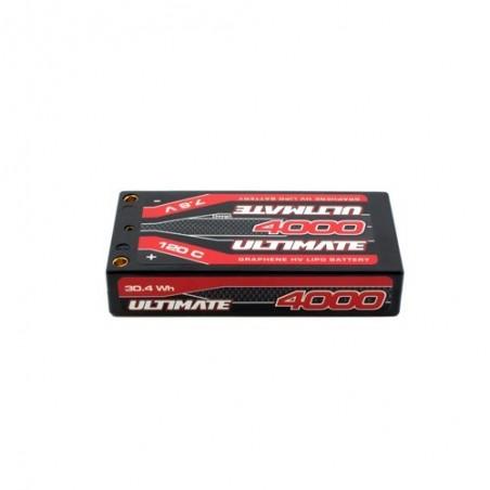 ULTIMATE Graphene HV LiPo SHORTY 4000 7.6V 120C 5mm TUBES