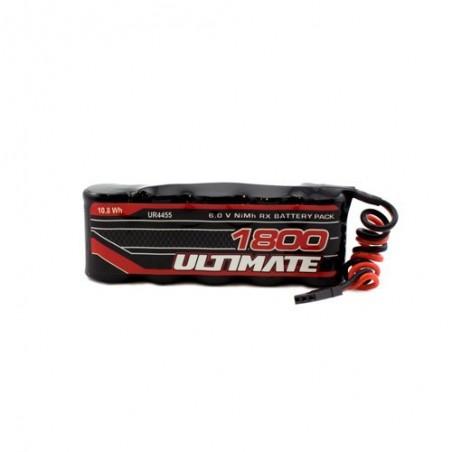 ULTIMATE 6.0v 1800mAh NiMh Flat Receiver Battery Pack JR