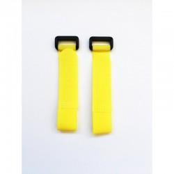 Velcro zip YELLOW 27 cm x2 pcs